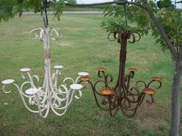 30 wrought iron old english real candle chandelier garden