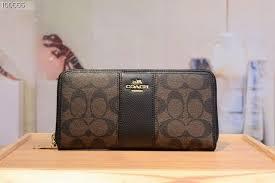 Coach classic pattern long zipper wallet