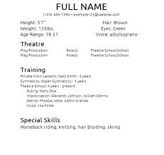 How To Make A Child Acting Resume With No Experience Actors Child