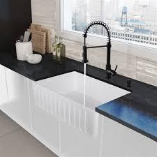 vigo farmhouse sink. Exellent Farmhouse VIGO AllInOne Matte Stone Farmhouse Kitchen Sink Set With Edison Faucet In For Vigo T