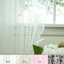 com best home fashion jacquard sheer lace lovely dot curtains rod pocket white 58 w x 84 l set of 2 panels home kitchen