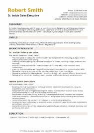 Executive Style Resume Template Inside Sales Executive Resume Samples Qwikresume