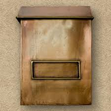 vertical wall mount mailbox. Plain Mailbox Brexton Vertical WallMount Copper Mailbox  Mailboxes And Slots Outdoor Throughout Wall Mount R