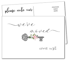Announcement Postcards Weve Moved Postcards We Have Just Moved Announcements Note Cards