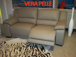 Giorgia divano 3 posti in vera pelle con 2 recliner elettrici