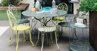 traditional dining table steel round garden