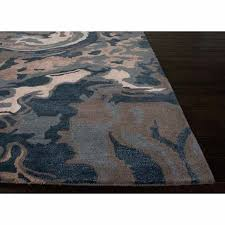blue and tan area rugs rugs hand tufted abstract pattern blue tan wool art silk area