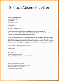 Letter For Absence 12 13 Sample Of Excuse Letter In School Medforddeli Com