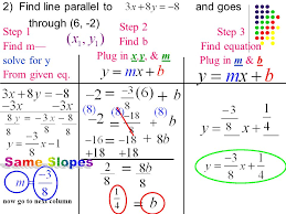 now go to next column 2 find line parallel to and goes through 6