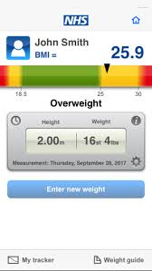 Nhs Bmi Height Chart Nhs Bmi Calculator On The App Store