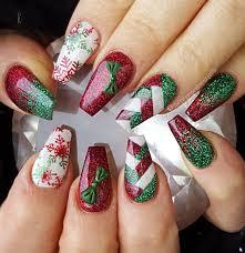 Christmas Nail Designs Shellac Christmas Christmas Gel Nails Christmas Nail Art Designs