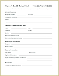 Employment Emergency Contact Form Student Contact Form Template Student Emergency Contact Form