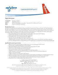 Flight Attendant Resume Sample With No Experience Recent Vision