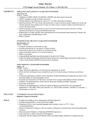 Silicon Validation Engineer Resume Samples Velvet Jobs