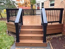 backyard ideas deck. exteriorstriking front porch deck design ideas using white wooden railing fence plus glass door backyard