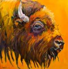 just sayin bison by diane whitehead just sayin bison painting just sayin bison fine