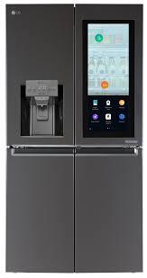 lg black stainless steel refrigerator. LG Black Stainless Steel Smart InstaView Refrigerator Lg