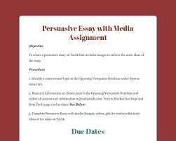 persuasive essay media assigment tackk
