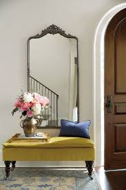 Image Large Framed Wall Filling Blank Entryway Make Grand Entrance With Largescale Mirror And Velvet Pillowtop Bench Pinterest Filling Blank Entryway Make Grand Entrance With Largescale