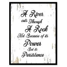 office motivation ideas. Office Decor Wall Art A River Cuts Through Rock Motivation Quote Saying Gift Ideas Home S