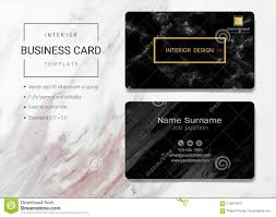 Business Card Examples For Interior Designers Interior Business Card Or Name Card Template Stock Vector