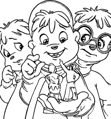 Small Picture Alvin And Chipmunks Coloring Pages Wecoloringpage