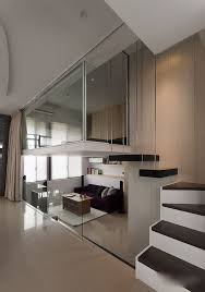 Small apt with Lofts  modern small apartment with loft bedroom Modern Small  Apartment With