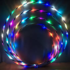 Led Lights For Fat Reduction Us 12 99 10 Off Dadaism Fitness Circle Performing Arts Led Light Abdominal Fat Loss Foldable Sport Hoop Gym Fitness Equipments In Toy Balls From