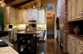 distressed white kitchen cabinets. kitchen with distressed antique white cabinets
