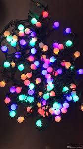 Led Round Ball Christmas Lights Lighting Strings 10m100 Leds Cherry Ball Fairy Lights Led Low Voltage Dark Green Line Starry Patio String Lights For Outdoor Decoration Warm White Led