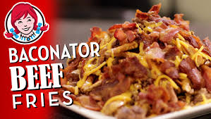 wendy s baconator fries with beef