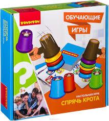 <b>Bondibon</b> Настольная <b>игра Спрячь</b> крота — купить в интернет ...