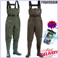 Cabela S Wader Size Chart Fishingsir Pvc Nylon 2 Ply Chest Waders Rubber Boot Foot Waders W Cleated Sole