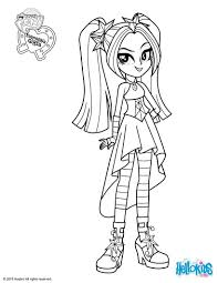 Aria Blaze Coloring Page Coloring Pages My Little Pony Coloring
