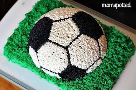 How To Decorate A Soccer Ball Cake Making A Soccer Cake Soccer ball cake Buttercream icing and 1