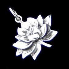 home sterling silver pendants spiritual pendants silver lotus flower pendant