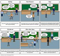 refusal skills comic strip storyboard by meganzotti choose how to print this storyboard