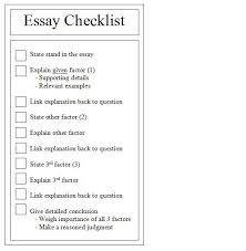 essay checklist okl mindsprout co essay checklist