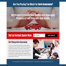 best auto insurance quote ppv landing page design template auto insurance example