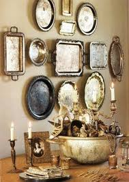 Decorating With Silver Trays Silver Trays Silver trays Trays and Vintage silver 8