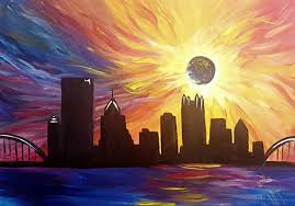 this painting was created for upcoming painting with a twist cl around pittsburgh by i leah
