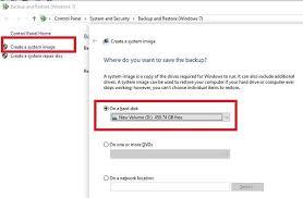to transfer windows 10 to an external