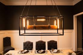 custom chandeliers and pendants custommade com wood beam large chandelier framed light with edison bulbs