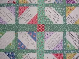 21 best easy quilts: signature quilt images on Pinterest ... & O'Quilts: Marie's birthday signature quilt/p.s. i quilt: siggy block  tutorial Adamdwight.com