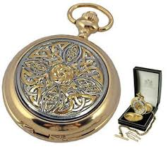 gold plated celtic knot mechanical skeleton pocket watch quality image is loading gold plated celtic knot mechanical skeleton pocket watch