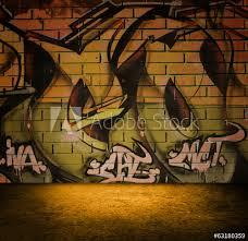 graffiti murals urban scene wallpaper