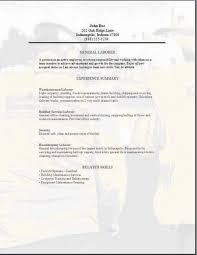 Laborer Resume Examples - Template