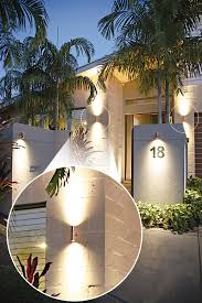 led outdoor light ls121led on a residential home wall