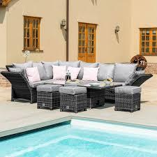 henley grey corner sofa with rising