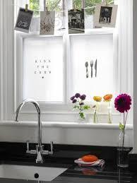 work ideas kitchen flowers decorative window privacy